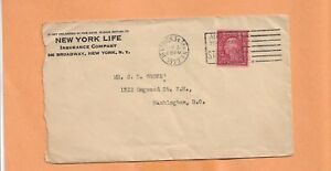 NEW YORK LIFE INSURANCE CO 1922    VINTAGE ADVERTISING  COVER   >