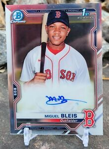 2021 Bowman Chrome MIGUEL BLEIS FY Auto Red Sox -- extremely high ceiling