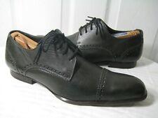 J. LINDEBERG Dark Gray Leather Brogue Oxford Shoes Men's Size 8,  RUNS BIG !!