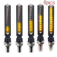 4x Universal Motorcycle LED Turn Signals Indicator Light Warning Lamp Yellow CRI