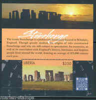 LIBERIA 2015 STONEHENGE SOUVENIR SHEET IN CONJUNCTION WITH LONDON 2015 MINT NH