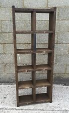 The 2 Column Standard! Industrial Up-Cycled Pigeon Hole Shelving Unit