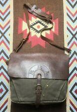 RRL Double RL Ralph Lauren Leather Canvas Shoulder Messenger Mail Bag