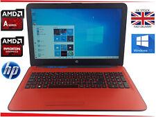 "15.6"" HP 15 Laptop AMD A6 up to 2.4GHz Quad 8GB 1000GB Radeon R4 Windows 10"