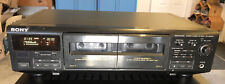 Sony Tc-We405 Dual Tape Cassette Deck Player Recorder - Tested/Works No Remote ✨