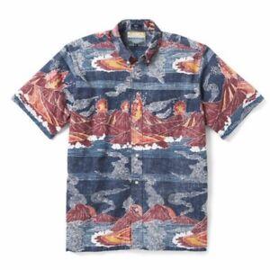 REYN SPOONER Volcanoes NATIONAL PARK Hawaiian Shirt Aloha Size L Classic Fit