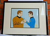 STAR TREK Animated Series WILLIAM SHATNER SIGNED Original ANIMATION CEL Framed