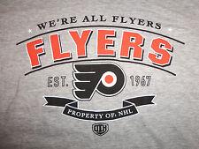 "NHL Philadelphia Flyers Hockey ""We're All Flyers"" Est. 1967 Gray T Shirt - S"