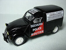 CITROEN  2CV  AZU  NOREV  SERIE  PRESSE  POLICE   1/43   NO  TRACTION  DS  HY