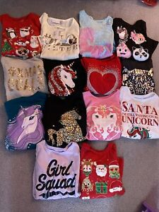 LOT of 14 Girls Size 7/8 Long Sleeve Shirts - *Great Condition*