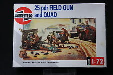 XL244 AIRFIX 1/72 maquette voiture 01305 25 pdr Fiel Gun and Quad 1993 NB