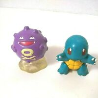 Pokemon TOMY CGTSJ Koffing And Squirtle PVC Figure Lot Vtg Nintendo 90s 2""