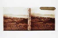 La Baie di Nizza Placca Da Lente Stereo 6x13cm Vintage Ca 1910