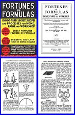 Fortunes in Formulas 1947 – 10,000 Formulas & processes on CD