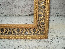 cadre Napoléon III  bois noir/doré à l'or sculpté 57,5 X 42,5 feuill.50 X 34,5