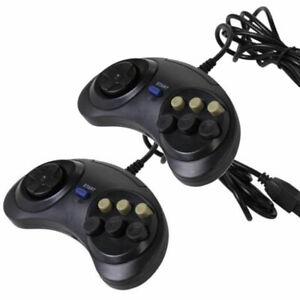 2 X 6 Button Game Controller for SEGA Genesis Black Control Pad Innovation