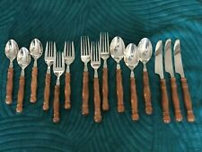 Lot of 3 5-pc place settings Lifetime Cutlery Old Homestead Forks Spoons Knives