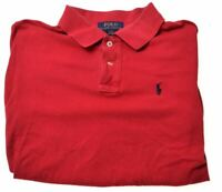 POLO RALPH LAUREN Boys Polo Shirt 14-15 Years Large Red Cotton  K007