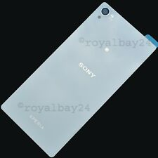 Sony Xperia Z3 Echt-Glas Rear White Battery Cover with Adhesive Back Cover