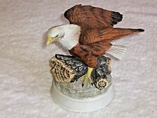 Bald Eagle Porcelain Figurine Vintage Birds In Flight Collection Royal Heritage