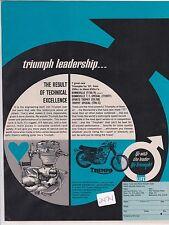 Triumph Bonneville & Trophy 650  vintage motorcycle advertisement ad 1967