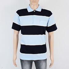 Hugo BOSS Mens Size S M Blue Stripe Short Sleeve Polo Shirt