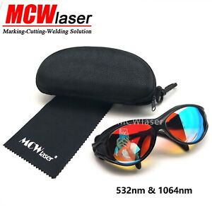 Laser Safty Protective Goggles Glasses 1064nm & 532nm Engraving Marking Cutting
