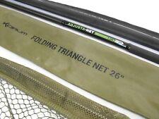 "KORUM ADJUSTA CARBON HANDLE & 26"" FOLDING NET barbel river carp fishing set up"