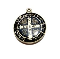 Pendant Catholic St. Benedict Shield Medal Patron Exorcism Protection