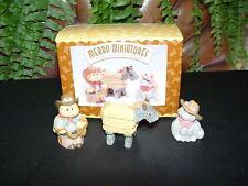 1996 Cowboy Cameron cat - Hallmark Merry Miniature set - western rodeo southwest