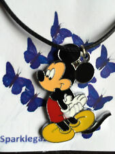 BRAND NEW 2017 DISNEY MICKEY HAND BACK FAUX BLACK NECKLACE GIFT CHRISTMAS 77