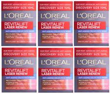 6 X 15ml L'oreal Revitalift Laser Anti-ageing Cream Mask Night Treatment