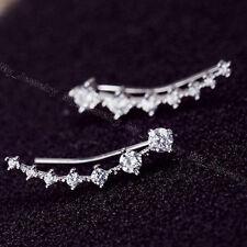 Fashion Row Rhinestone Crystal Star Ear New Clip Piercing Cuff Earrings Ladies