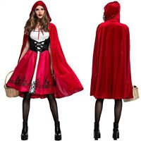 Halloween Little Red Riding Hood Casual Party Fancy Dress Adult Women Costume