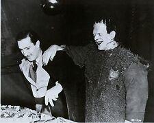 RARE STILL BORIS KARLOFF AS FRANKENSTEIN  ON SET BIRTHDAY CAKE