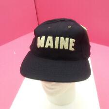 MAINE BLACK BEARS - NEW FOOTBALL HAT CAP - NAVY FLAT BRIM