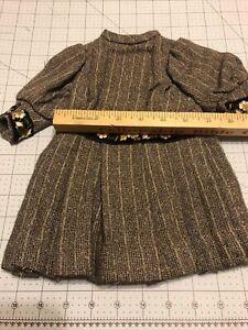 Vintage Wool Doll Dress