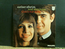 ESTHER OFARIM & ABRAHAM  That's Our Song  LP  1963    Folk  Lovely copy!