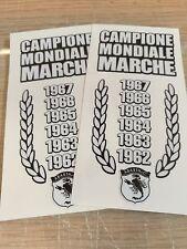 COPPIA STICKER ADESIVI FIAT ABARTH CAMPIONE MONDIALE MARCHE - 500 ZEROCENTO