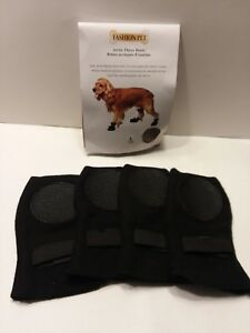 "Fashion Pet Lookin Good Arctic Fleece Boots for Dogs Large 18""-20"" Black Pet"