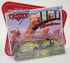 Disney PIXAR Cars Mini Adventures Sarge's Boot Camp DOC & SHERIFF Mattel Boys 3+