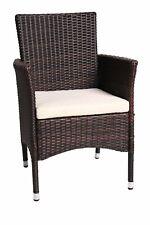 Gartenstuhl Gartensessel Stuhl mit Auflage Gartenmöbel Poly-Rattan Relax Chair