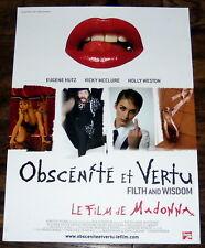 FiLTH & WiSDOM Madonna  Ade  Gogol Bordello  Olegar Fedoro  SMALL French POSTER