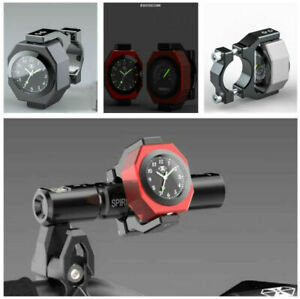 Stylish Rotated 22-28mm Motorcycle Luminous Clock Gauge Combo Temperature+Time