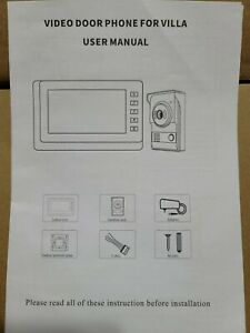 "AMOCAM Wired Video Doorbell Phone 7"" Video Intercom Monitor Doorphone System ..."