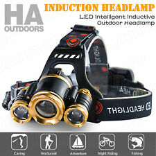 RECHARGEABLE 18650 GESTURE SENSING CREE 1T62XPE 10000LM LED HEADLAMP TORCH LAMP
