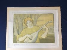 Paul Berthon La Mandore 1901 Original Lithografie
