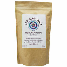 Premium White Kaolin Clay - 500g Superfine by Clay Cure - Healing & Cleansing