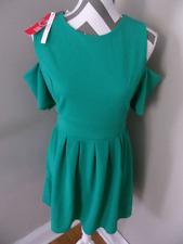 ASOS Wal G Green Cold Shoulder Skater Dress NWT LARGE