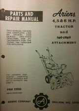 Ariens 922000 Sno-Thro Service & Parts Manual 60pg 1968-1978 Snow Thrower Blower
